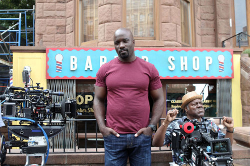 Sweet Christmas! It's Our First Look at Mike Colter on the Set of Luke Cage!