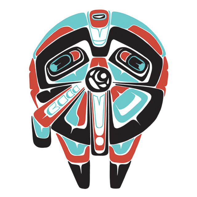 Check Out This Stunning Combination Of Indigenous Art And Star Wars