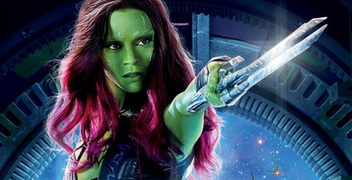 Zoe Saldana is already Going Green for Gamora!