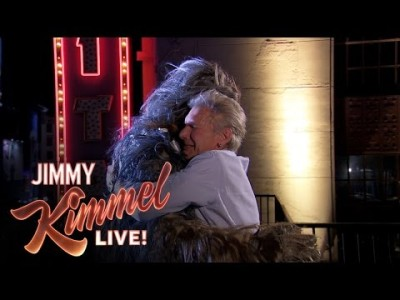 Harrison Ford and Chewbacca End Long Time Feud with Help from Adele's 'Hello' on Jimmy Kimmel Live