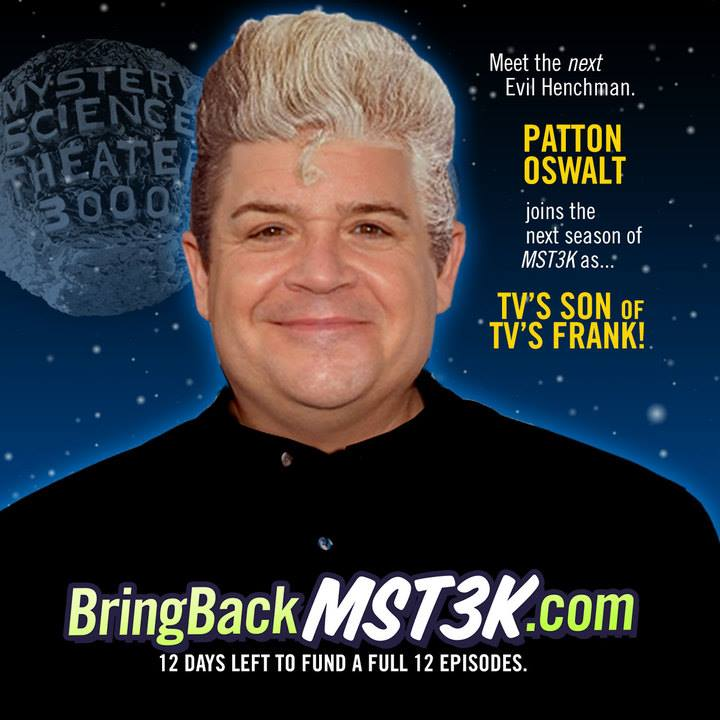 Patton Oswalt Joins The Cast Of Mystery Science Theater 3000!