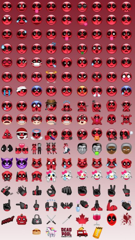 ITS A CHRISTMAS MIRACLE! ALL THE DEADPOOL EMOJIS YOU COULD EVER WANT!