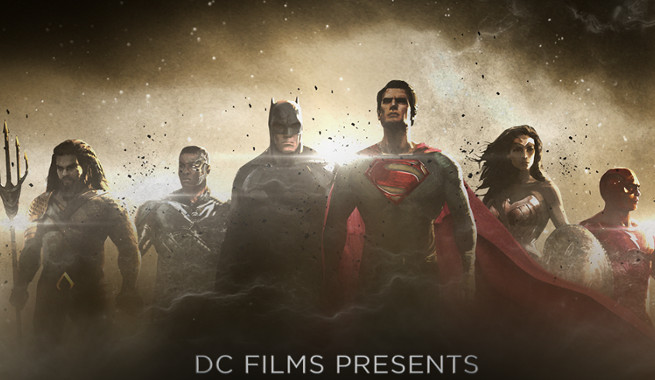 It's Our First Look at The Full Justice League Line Up!