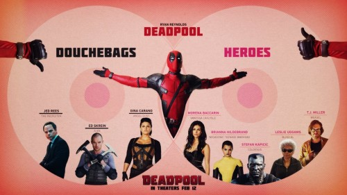 Heroes, Douchebags and Deadpool Featured in New Image From Ryan Reynolds!