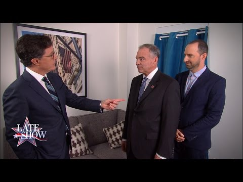 'Veep's Tony Hale Attempts to 'Assist' Tim Kaine on Late Show Appearance!