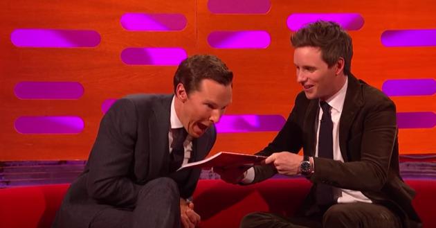 Eddie Redmayne And Benedict Cumberbatch Play With Magic On The Graham Norton Show!