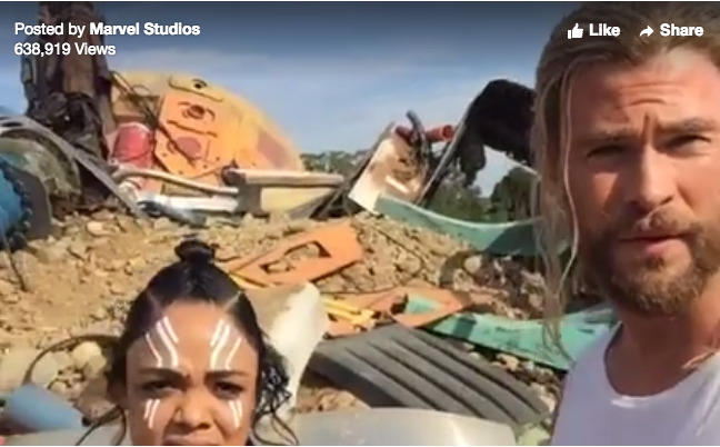 Thor: Ragnarok is a Wrap with Live Video From Set and First Look at Tessa Thompson in Make-Up as Valkyrie!