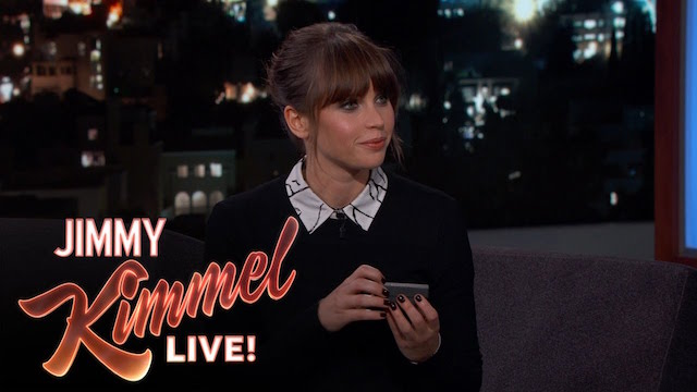 Felicity Jones Talks About 'Rogue One' On Jimmy Kimmel Live!