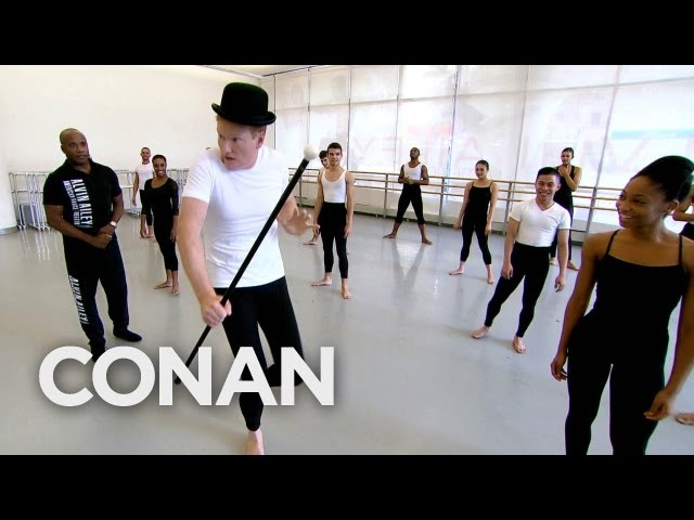 Conan O'Brien Works On His Dance Moves At The Alvin Ailey Company