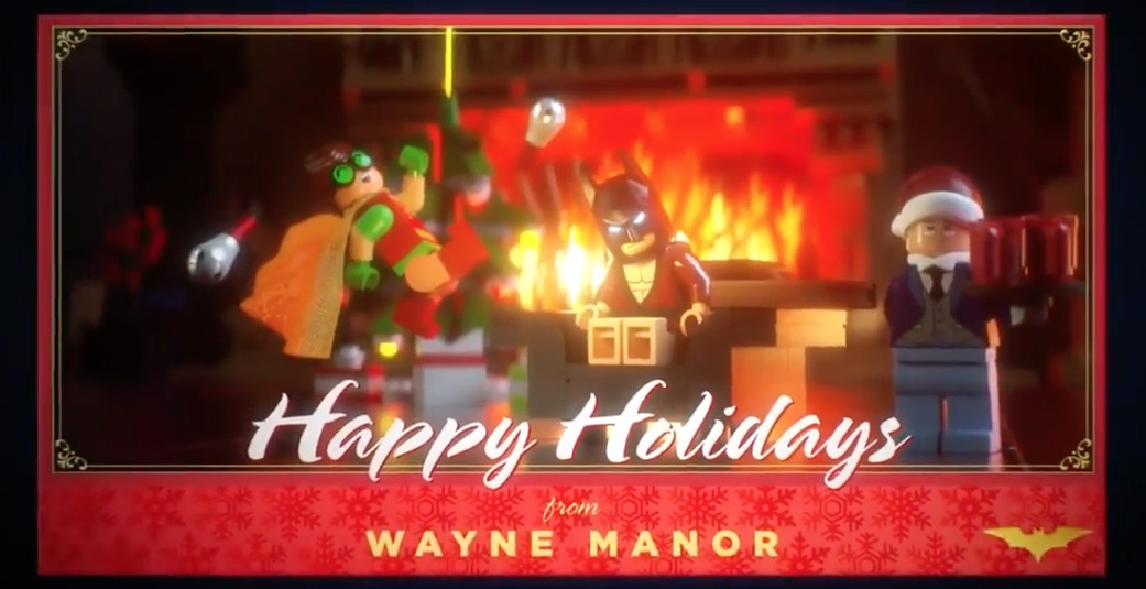 This Holiday Greeting from LEGO BATMAN is Perfect
