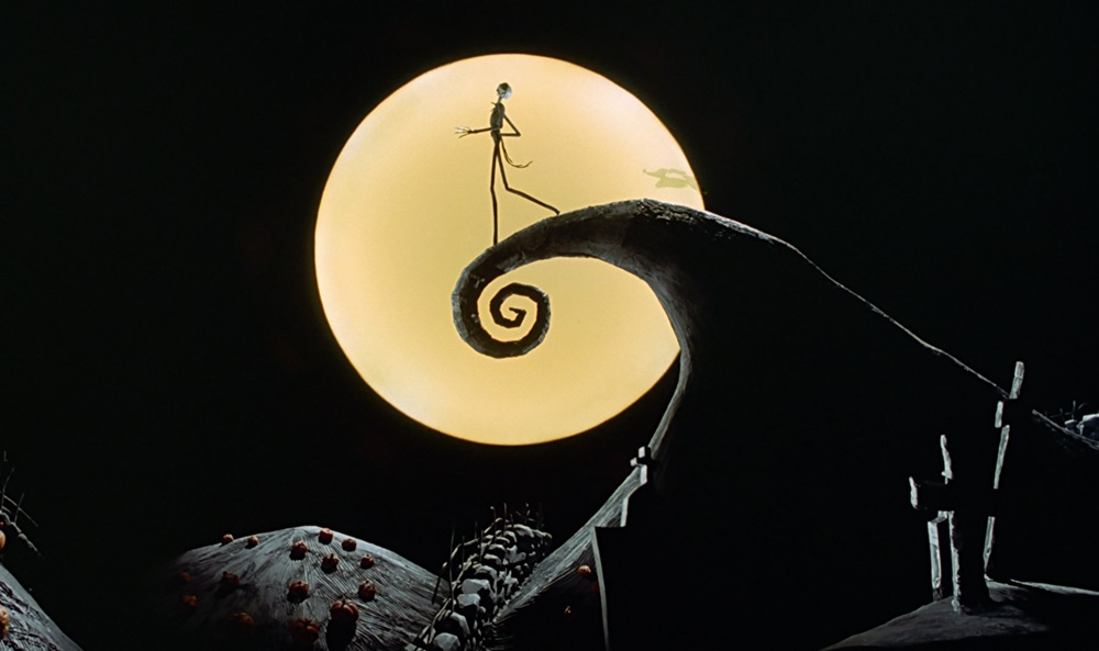 Still from The Nightmare Before Christmas, a quintessential Halloween movie.