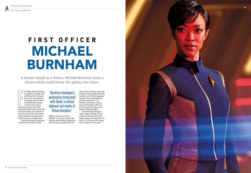 Star Trek Discovery Official Collector's Edition Guide Behind The Scenes Michael Burnham Biography