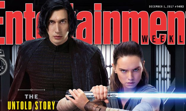 New STAR WARS: THE LAST JEDI EW Covers Show Rey and Kylo Ren Together