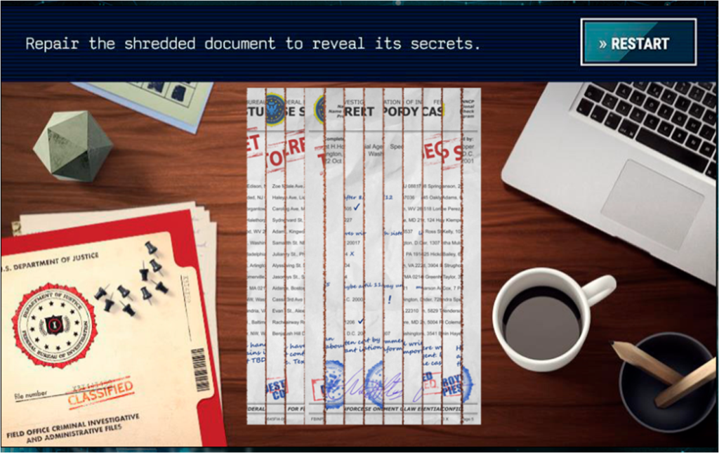 X-Files Deep State Mobile Game Tease Shredded Paper Game
