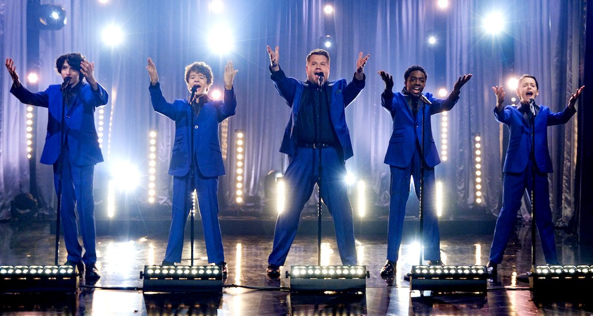 WATCH: James Corden Reveals STRANGER THINGS Kids' Motown Past with The Upside Downs!