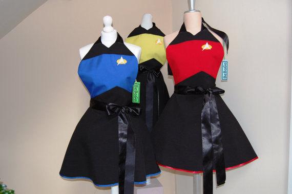 Star Trek Fandom Cosplay Aprons BeBaGo Etsy