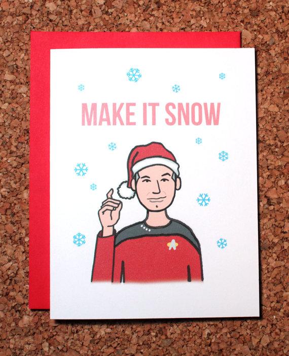 Star Trek Make It Snow WhamCards Etsy