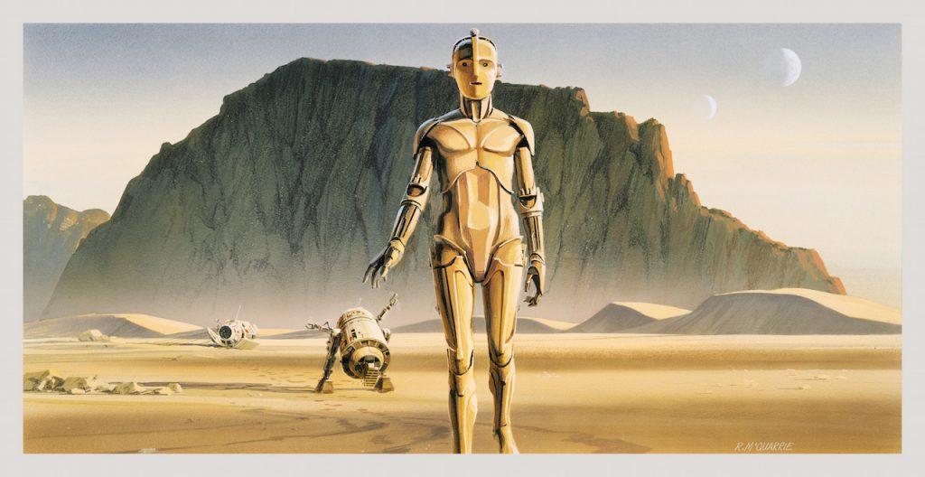 Star Wars Ralph McQuarrie Concept Art R2D2 C3PO