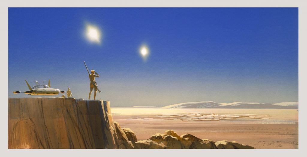 Star Wars Ralph McQuarrie Concept Art Tatooine