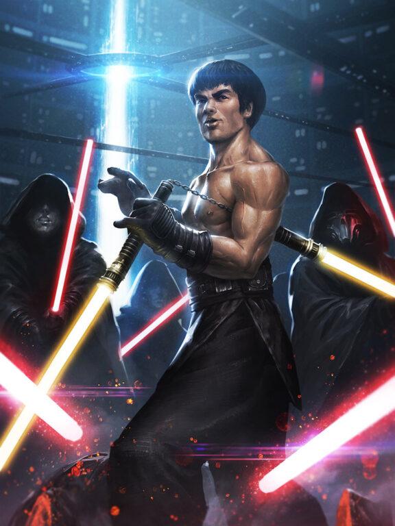 Bruce Lee Jedi by ameeeeba DeviantArt