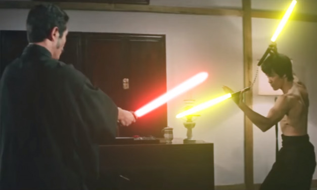 Watch This Amazing Bruce Lee 'Fist of Fury' Scene Recreation with Lightsabers