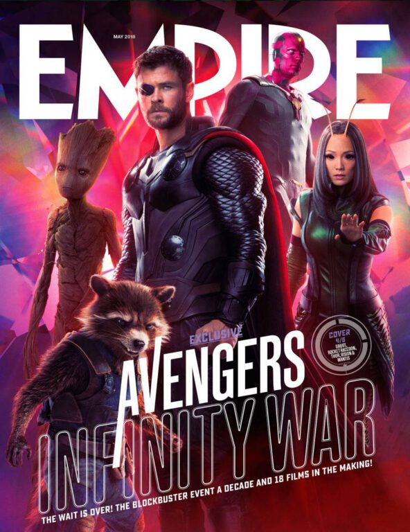 Empire Avengers Infinity War Cover 4 Rocket Teen Groot Thor Vision Mantis