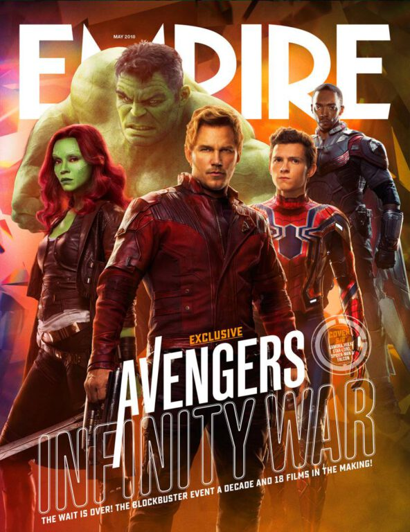Empire Avengers Infinity War Cover 5 Gamora Hulk Star Lord Peter Quill Spider-Man Falcon