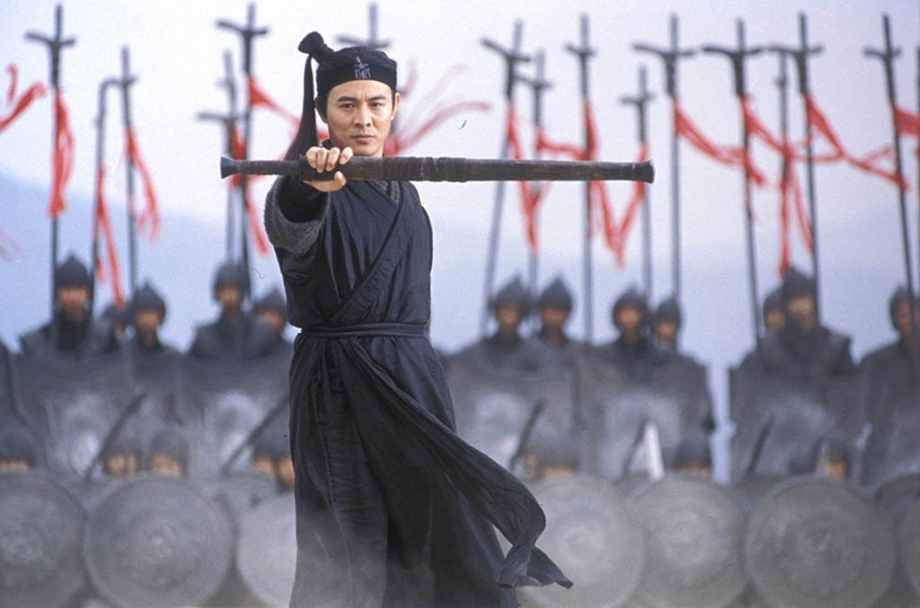Jet Li as Nameless in Hero | imdb.com