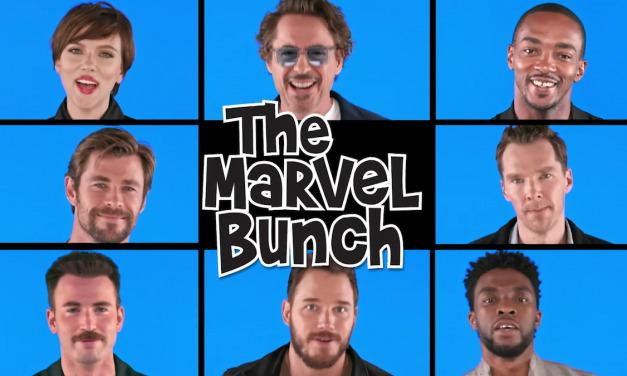 AVENGERS: INFINITY WAR Cast Assembles for Hilarious Brady Bunch Parody