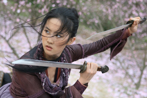 Yifei Liu Crystal Liu as Golden Sparrow in The Forbidden Kingdom imdb.com