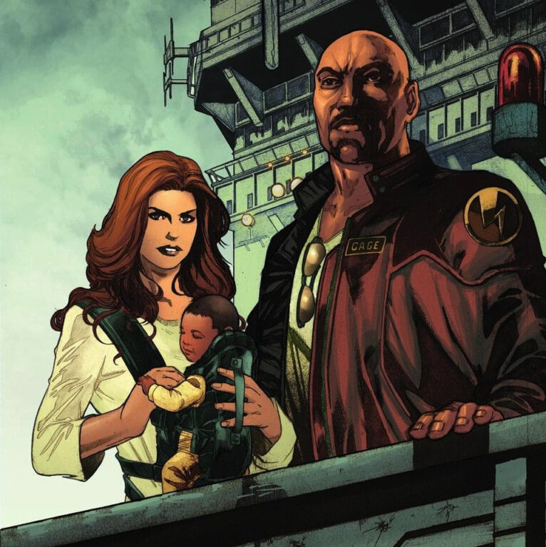 Jessica Jones, Luke Cage, and Danielle by Miguel Sepulveda