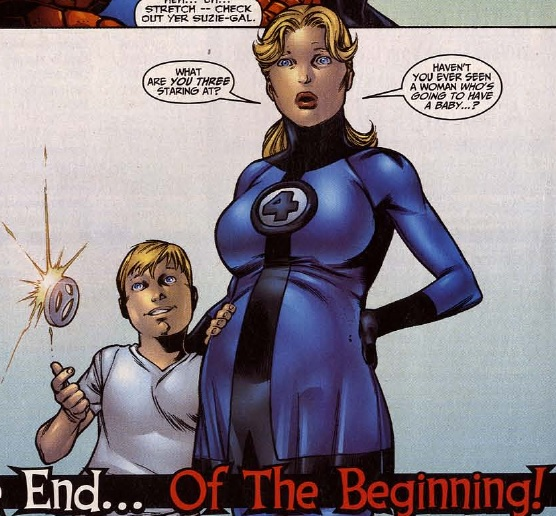 Sue Storm-Richards and Franklin Richards, Fantastic Four Vol 3 #49, 2002