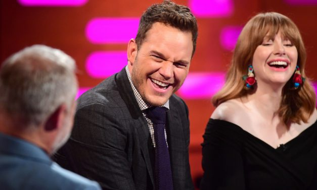 THE GRAHAM NORTON SHOW: Chris Pratt, Bryce Dallas Howard, Jeff Goldblum and Thandie Newton Get Personal