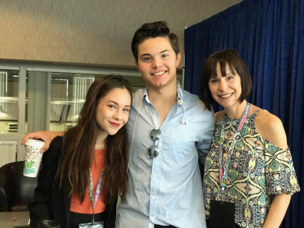 Grace Rolek, Zach Callison and Susan Egan.