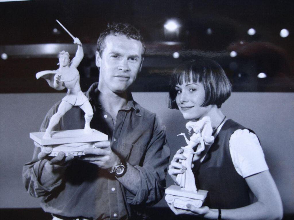 Tate Donovan and Susan Egan with their Hercules characters in 1997.