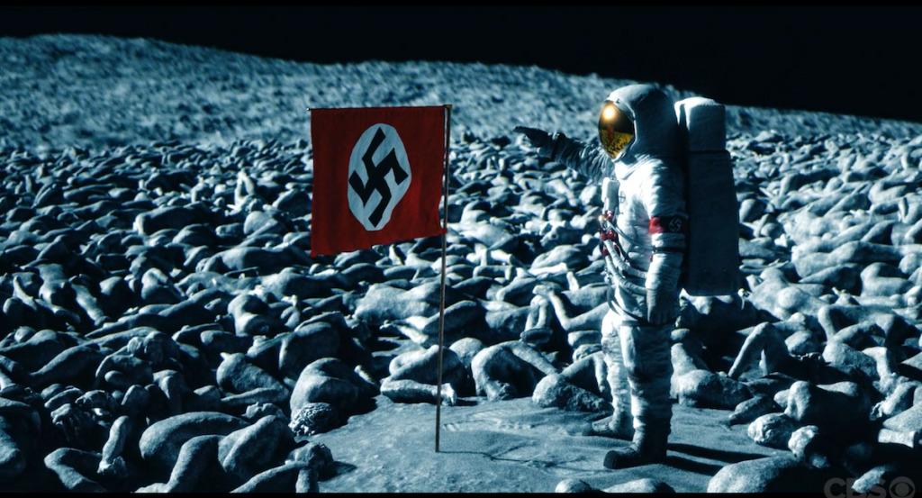 Nazi flag on the moon