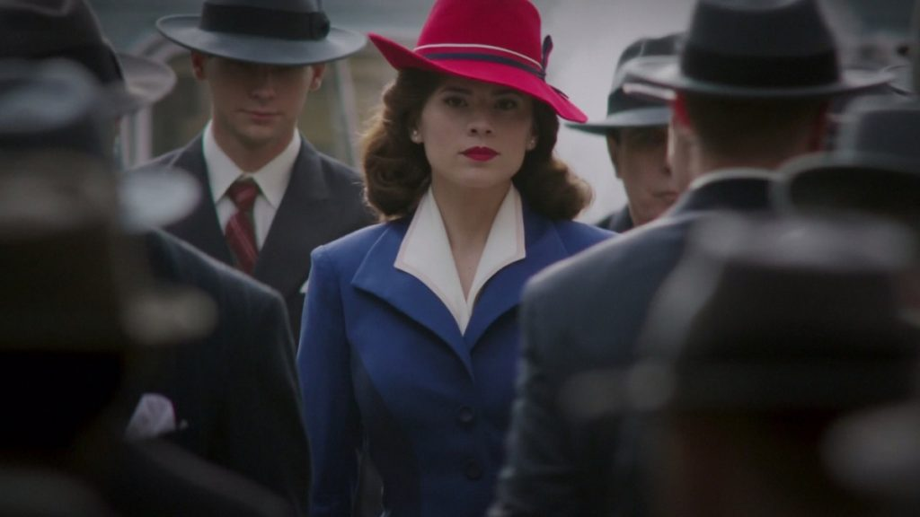 Still of Hayley Atwell as Peggy Carter in Agent Carter.