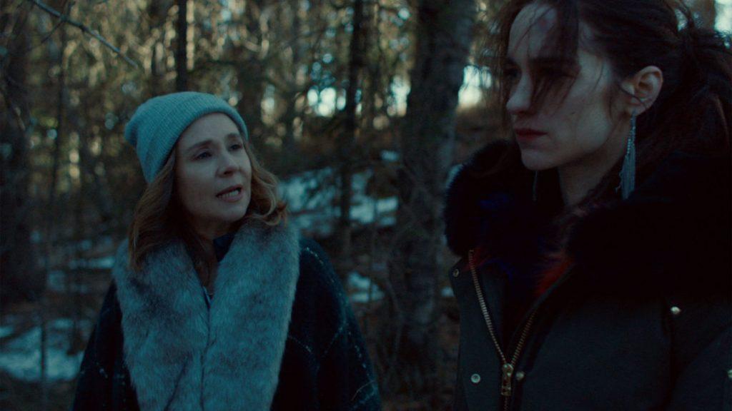 Still of Megan Follows and Melanie Scrofano in Wynonna Earp.