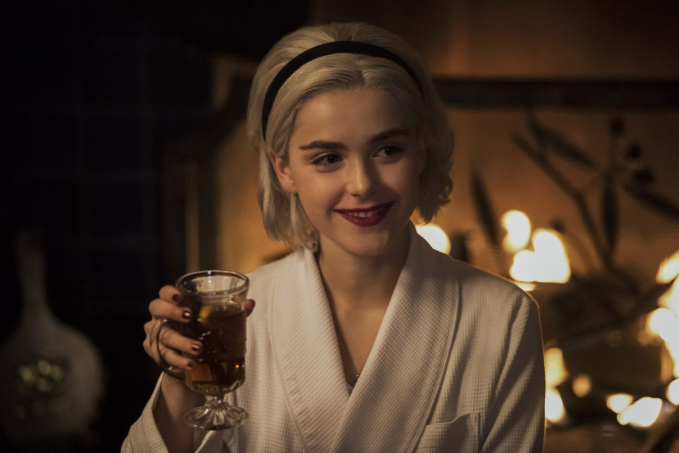 Kiernan Shipka as Sabrina in Netflix's Chilling Adventures of Sabrina: A Midwinter's Tale