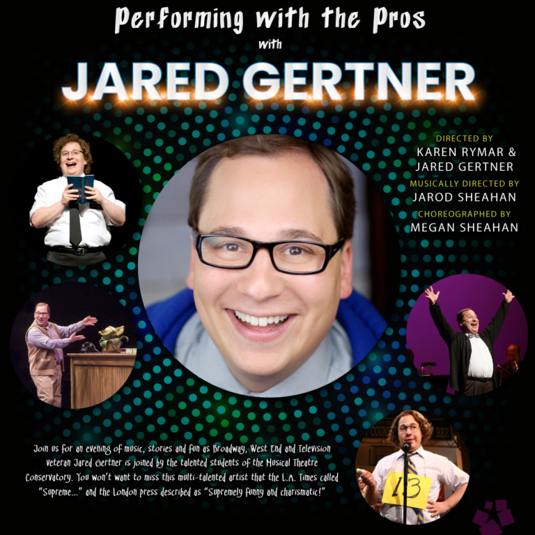 Poster for Jared Gertner Performing with the Pros at OCSA