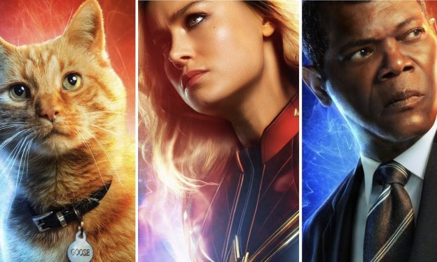 CAPTAIN MARVEL Character Posters Spotlights Heroes, Villains, and Goose
