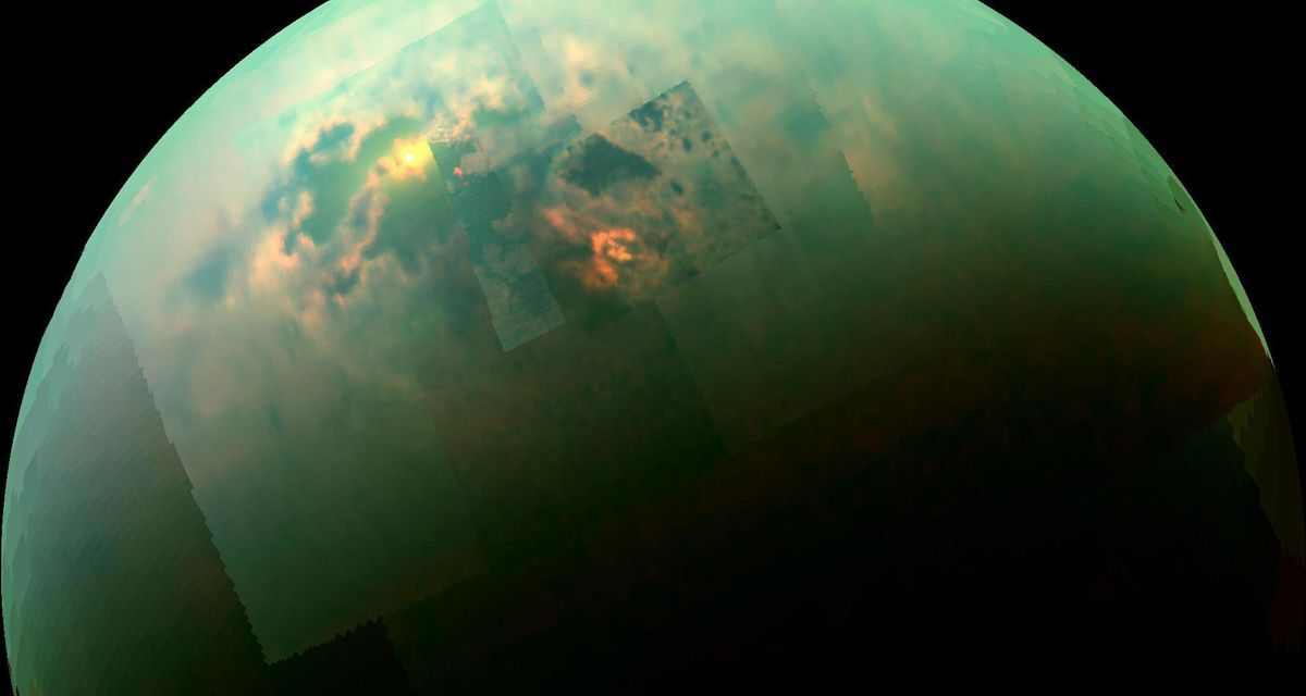The Unusual Atmosphere on Saturn's Moon Titan May be Due to Home-Cooking