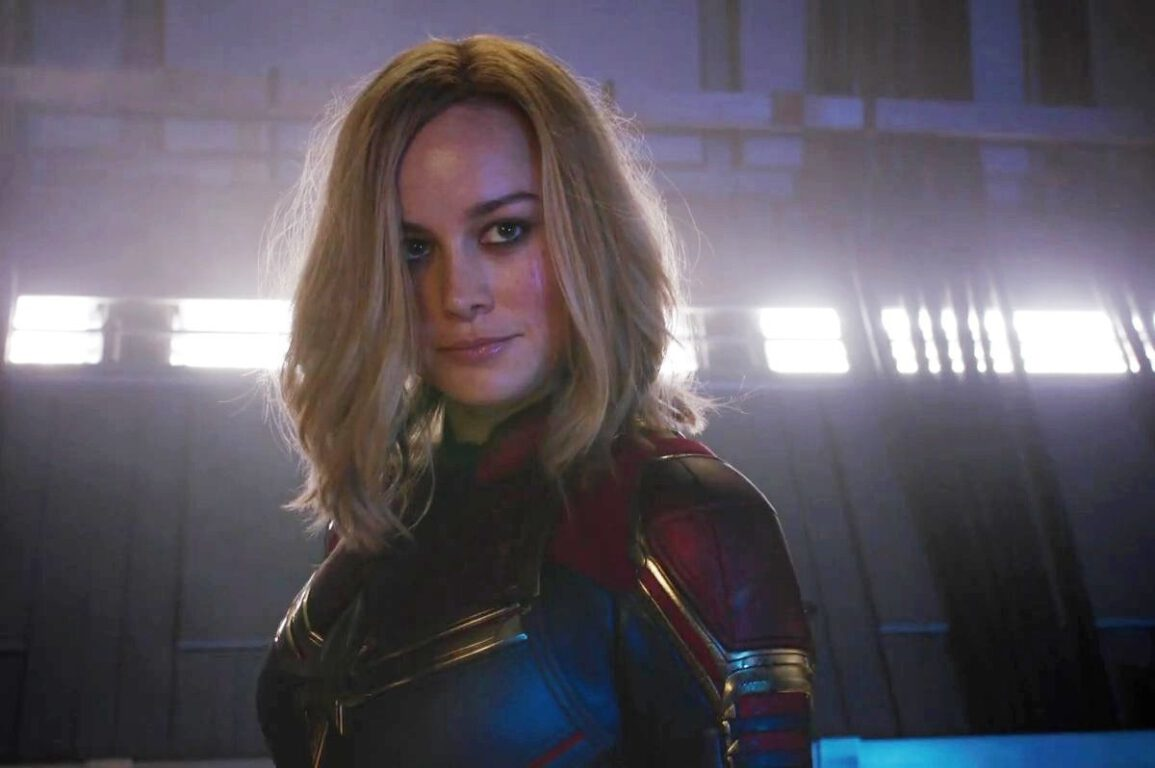 Still Image of Brie Larson as Captain Marvel in the upcoming MCU film