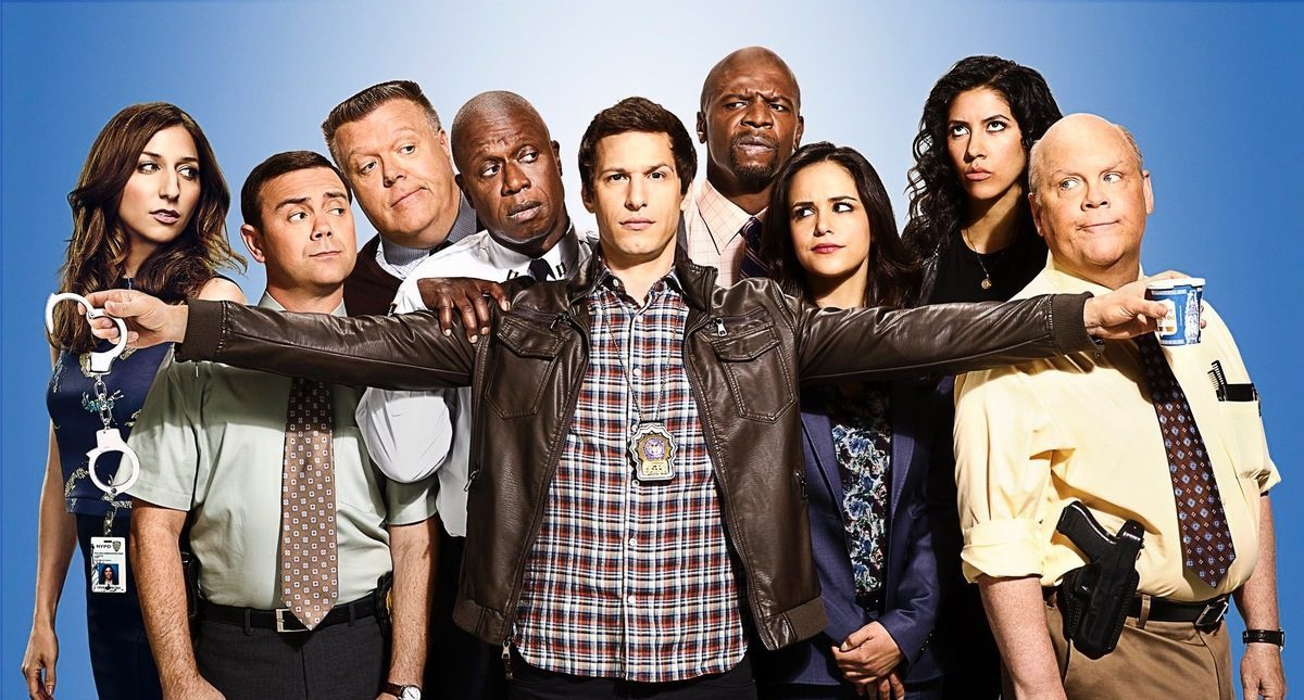 Promotional photo of cast of Brooklyn Nine-Nine
