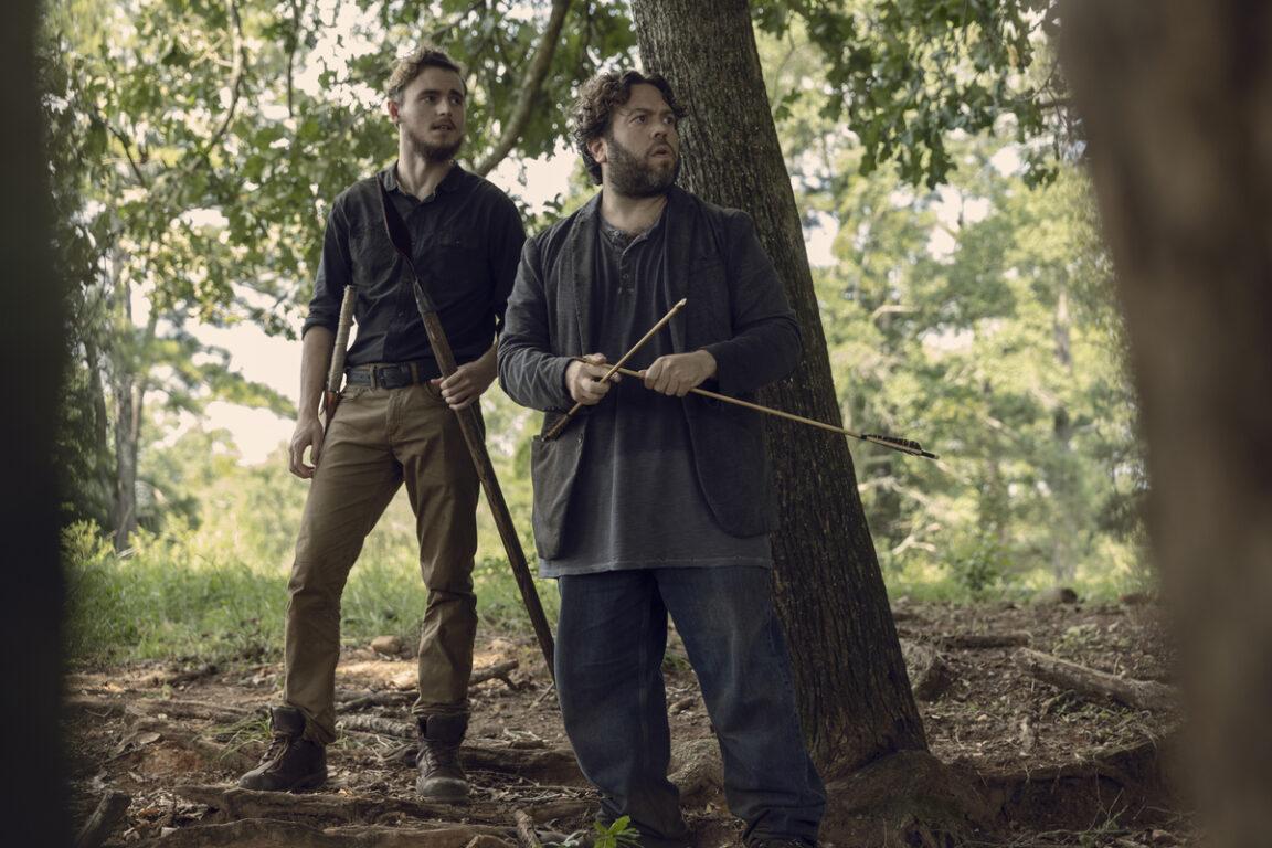 Alden and Luke follow a trail to trouble on The Walking Dead.
