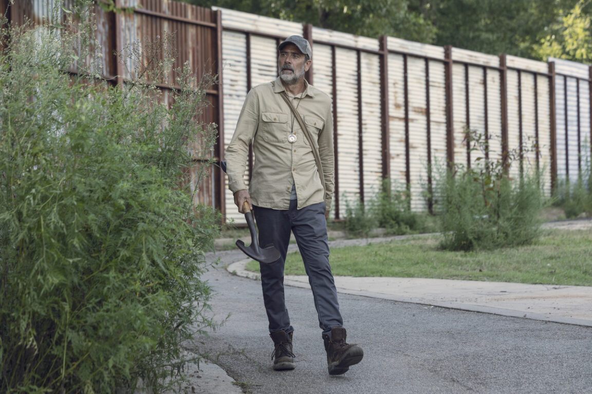 Negan leaves Alexandria on The Walking Dead.