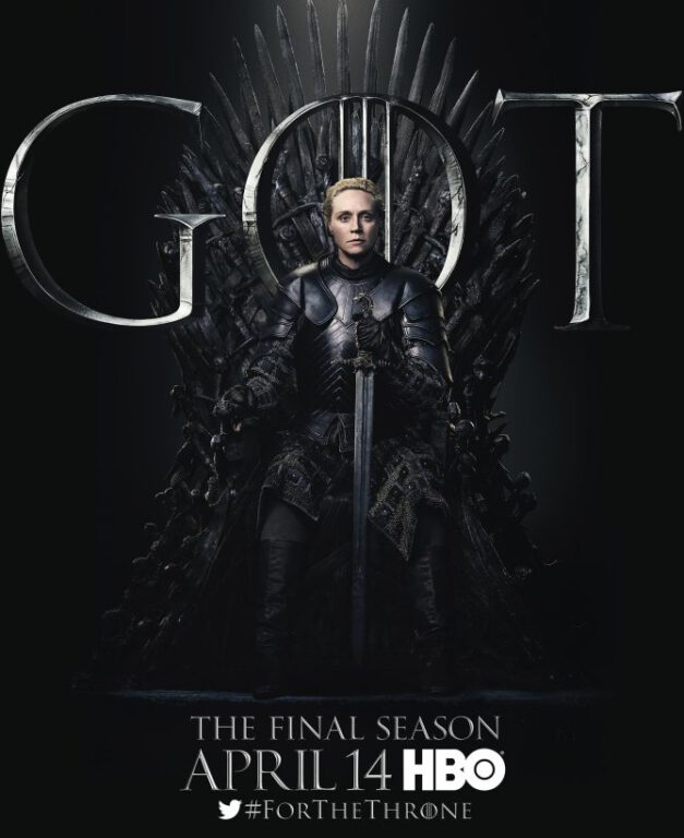 brienne of tarth on the iron throne