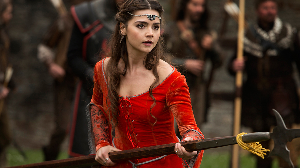 "Still Image of Clara (Jenna Coleman) in Doctor Who ""Robot of Sherwood"""