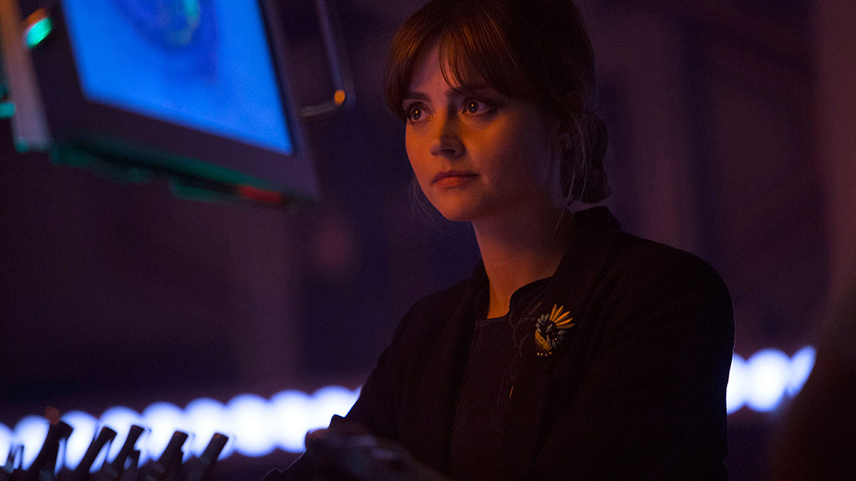 "Still Image of Clara (Jenna Coleman) in Doctor Who episode ""Listen"""