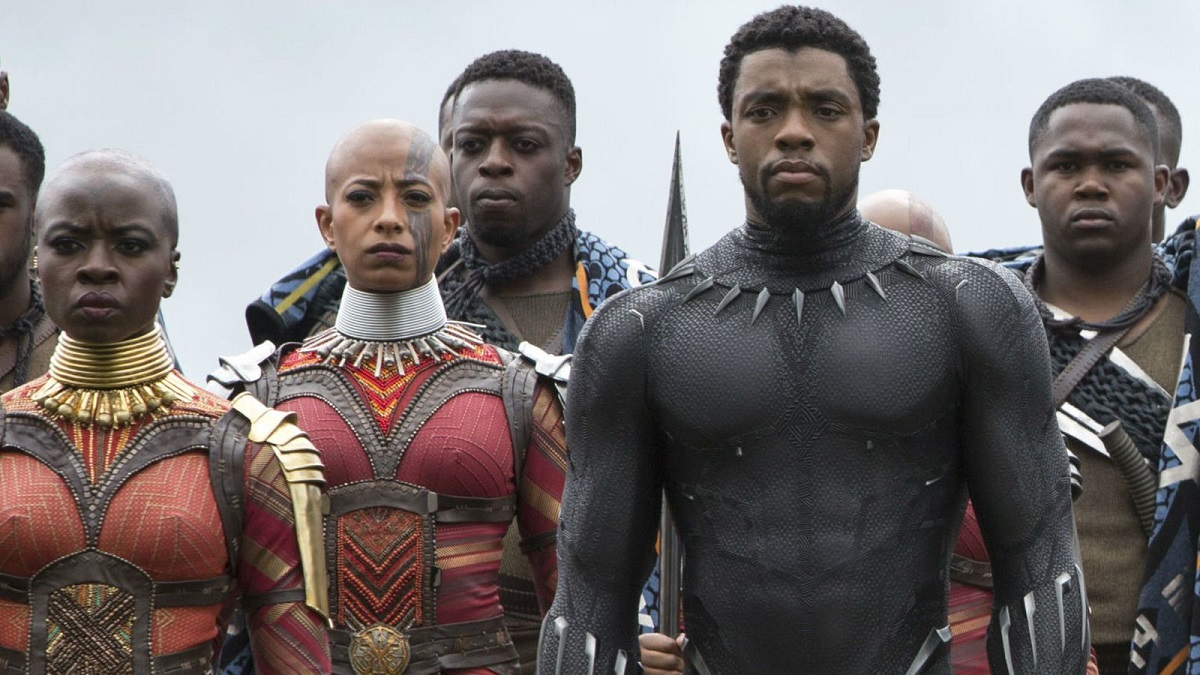 Okoye is always by T'Challa's side